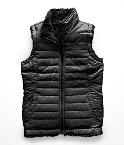 - The North Face Girl's Reversible Mossbud Swirl Vest - TNF Black - XS