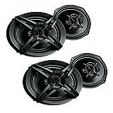 Sony XS-R6946 6 x 9 430 Watt 4-Way Full-Range Car Door Audio Speakers (Pair) (2 Pack)