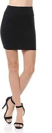 Faldas Mujer Verano Dama Color sólido Bolsa Cadera Falda Falda ...