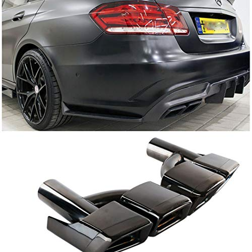 (ProooAuto AMG Style Black Exhaust Muffler Tips for Mercedes Benz W212 W221 W204 W205 W218)