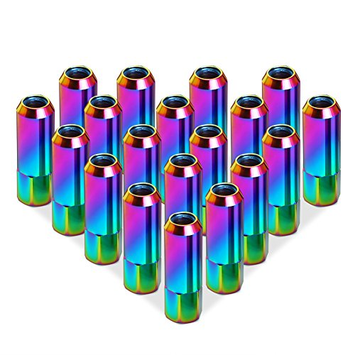 Rupse 20pcs M12x1.5 7075 Aluminum Lug Nuts Extended Tuner Wheels/Rims For Honda,Mitsubishi,Toyota, Mazda, Subaru etc - Rims Multi Color