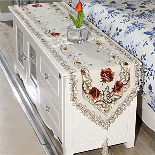 Amazon.com: Angelsun New Elegant Polyester Embroidery Table ...
