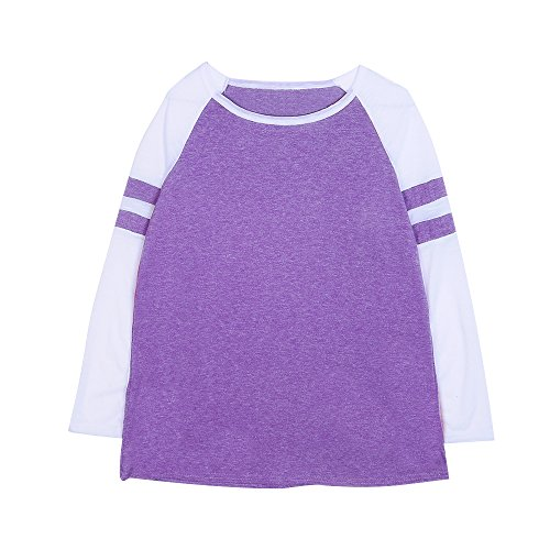 Automne Tops Femme Pull Violet Longues Casual Manches Aelegant Sweat a01Bxw