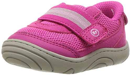 Stride Rite Girls' SR-Jessie Sneaker, Pink, 3 M US Infant (Baby Stride Shoes Ride)