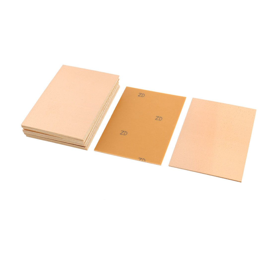 sourcingmap® 15Pcs 100x70x1.5mm DIY Single Sided Copper Clad Laminate PCB Board a15080500ux0222