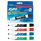 Expo Low-Odor Dry Erase Markers, Bullet Tip, Assorted Colors, 2 Packs