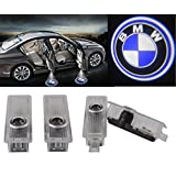 4 Packs Of π BMW Brand Logo LED Car Door Projector Lights Ghost Shadow Lights, Laser Projection