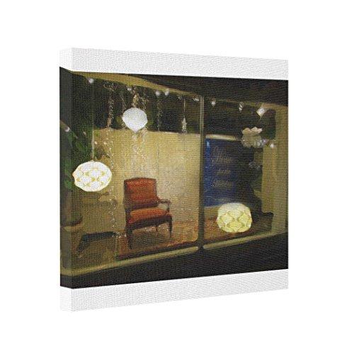 Ohio Print Shorts - Dobend Gallery Wrapped Canvas Window Scene - Short North - Columbus Ohio Photo Printing On Canvas
