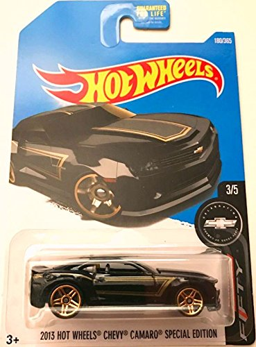 Hot Wheels 2017 Camaro Fifty 2013 Chevy Camaro Special Edition 180/365, Black