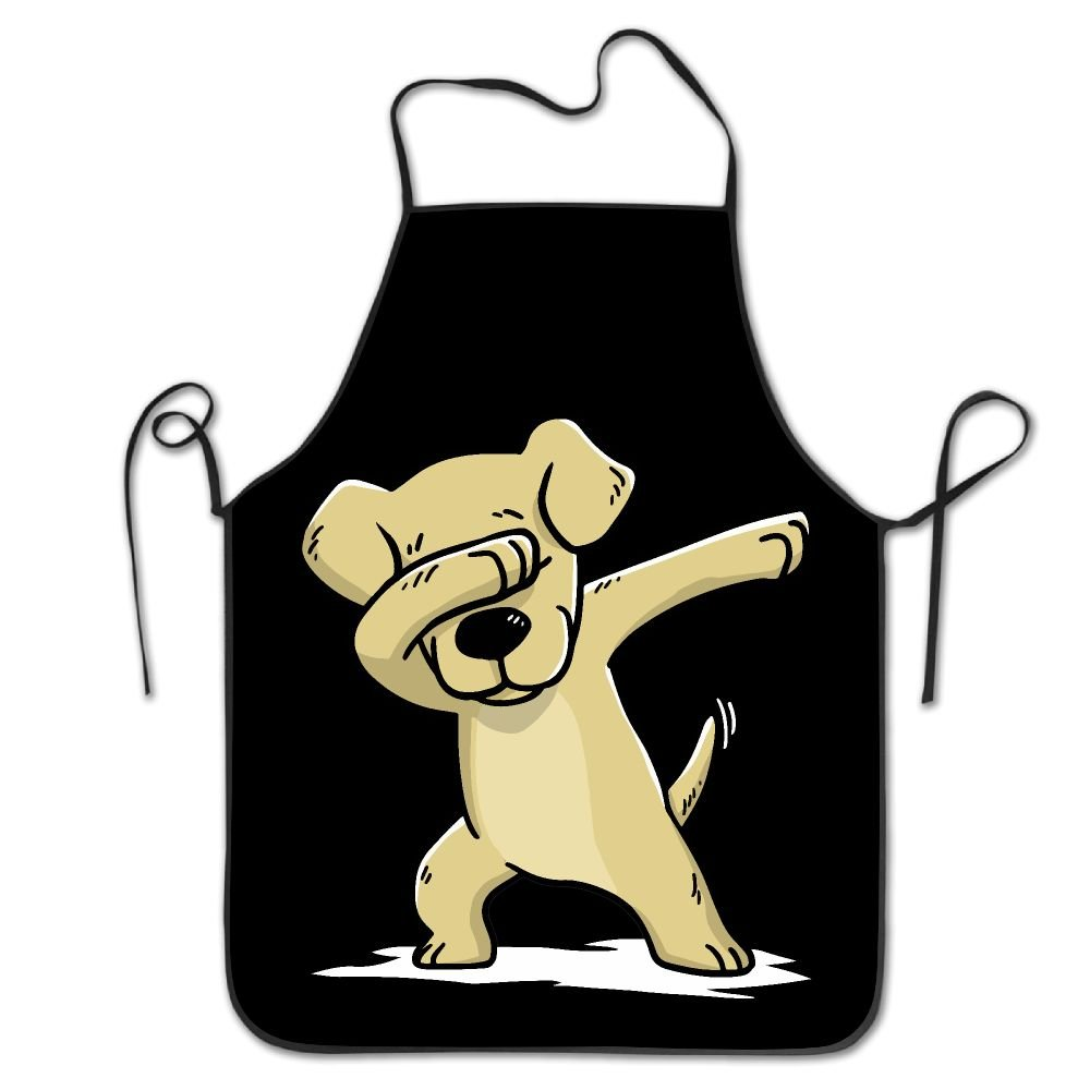 Novelty Funny Labrador Retriever Dabbing Unisex Kitchen Chef Apron - Chef Apron For Cooking,Baking,Crafting,Gardening And BBQ by RZ GMSC (Image #1)