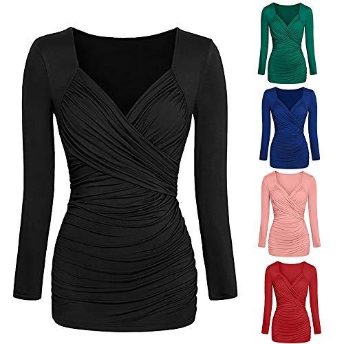 t Sexy T Dcontracte Sexy Tous Noir Vetements Chemise 1 Les Femmes Chic Longue Tops Haut Shirt Manches Bureau Blouse Jours Mode et en Vrac OVERMAL Fille Slim Automne qHYxZ7wx