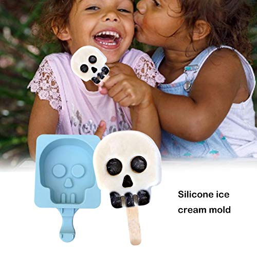 Smartey Halloween Ghost Head Ice Cream Silicone Mould Tombstone Owl Shaped Cartoon Ice Sucker Mould Cold Drink Mold