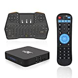 Android TV Box,U2C X Plus Smart TV Box 2GB RAM 16GB ROM Octa Core Android 7.1 Amlogic S912 Support 2.4G/5G Dual Wifi/1000M LAN/BT 4.1/4K Resolution/3D TV Boxes with Mini Wireless Keyboard