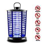 XMSTOREs Bug Zapper, Electric Flying Zapper with UV Light, Portable Standing or Hanging for Indoor and Outdoor Use