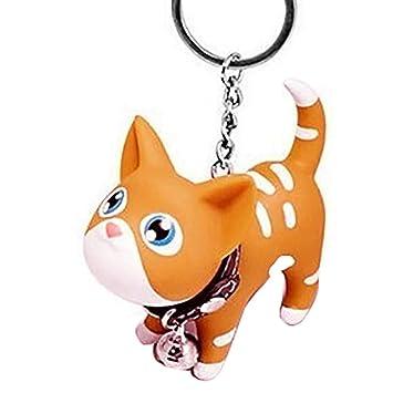 Gatito del Gato Llavero Animal de la Historieta de Bell Pequeño Llavero de Metal Mujeres Estudiante llaveroMengonee: Amazon.es: Hogar