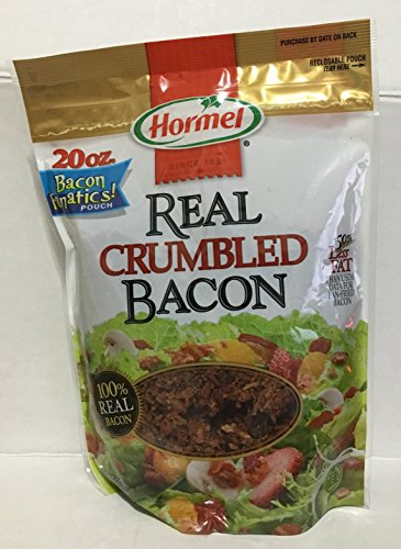 Hormel 50% Less Fat Real Crumbled Bacon, 20 Ounce