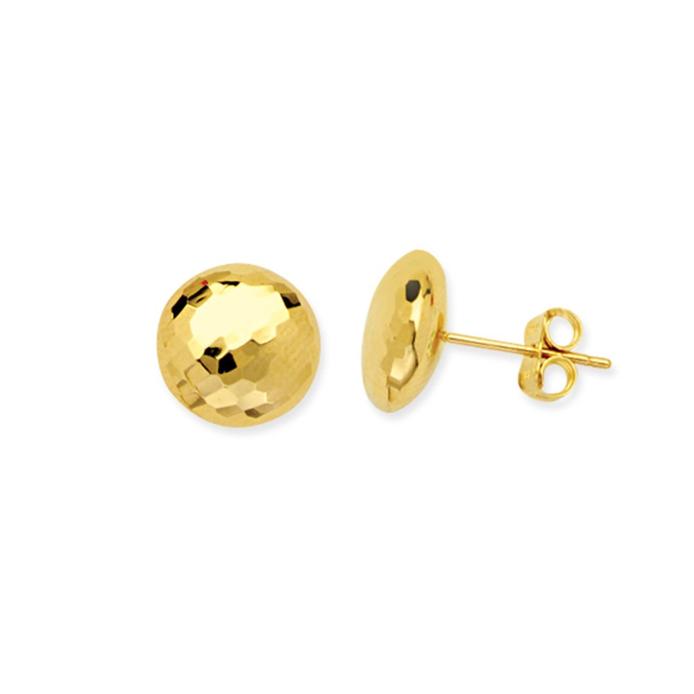 Button Earrings 14Kt Gold Button Earring