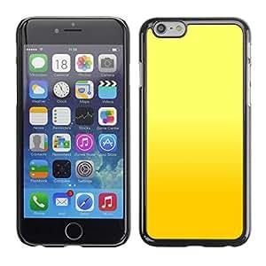 TopCaseStore / la caja del caucho duro de la cubierta de protección de la piel - Yellow background - Apple iPhone 6 Plus 5.5