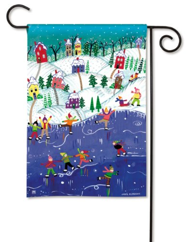 BreezeArt Studio M Snow Day Decorative Garden Flag - Premium Quality, 12.5 x 18 Inches ()