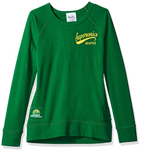 Touch by Alyssa Milano NBA Seattle Supersonics Women's Dugout Reversible Pullover Sweatshirt, Large, Green