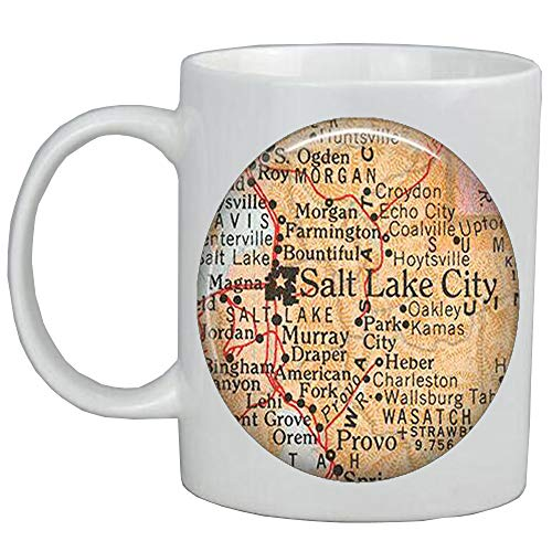 Fashion Coffee Mug Salt Lake City Coffee Mug,Salt Lake City Utah Coffee Mug Salt Lake City Mug map jewelry map Mug map Coffee Mug,A0022]()