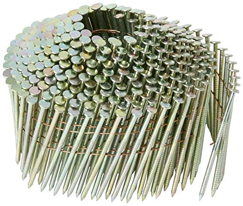 1-1/4 in. x 0.083 in. Steel Cap Ring Shank Electro galvanized Wire Coil Nails (2,800-Pack)