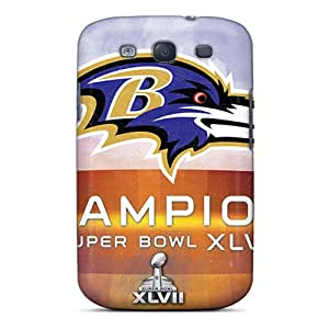 Scratch Protection Hard Phone Case For Samsung Galaxy S3 With Provide Private Custom High-definition Baltimore Ravens Pattern MarcClements