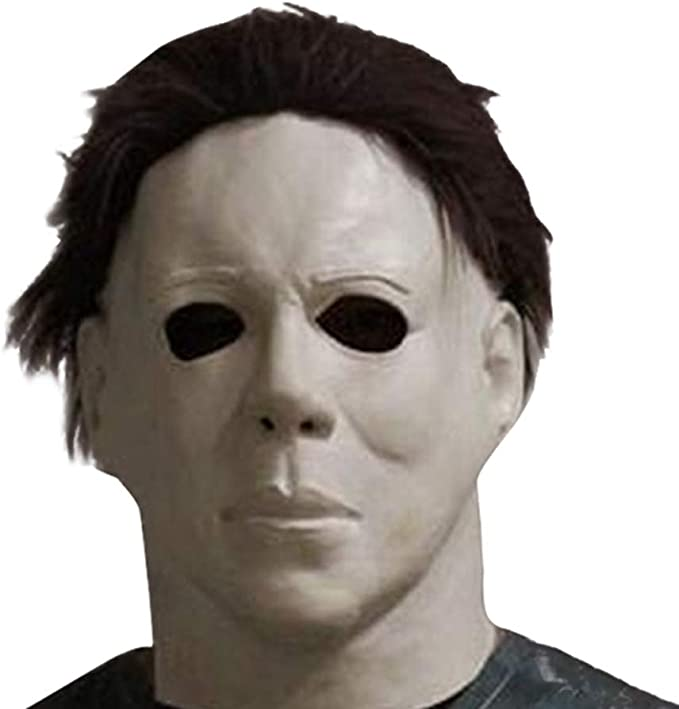 Amazon.com: HAOCOS Adult Horror Movie Cosplay Props Michael Myers Latex Full Head Mask White: Clothing