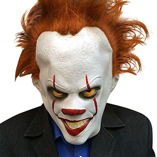 Halloween Pennywise Cosplay Latex Clown Mask (White) -