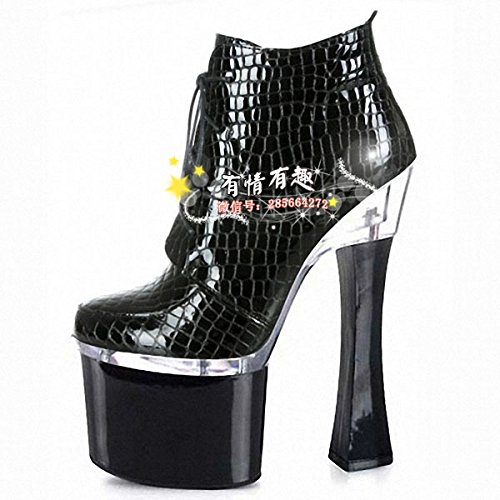high black heel high GaoXiao head round 20 cm short Martin centimeter 18 night centimeters boots 18 store boots boots heels Fq1PFvxHw