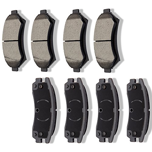 Ceramic Brake Pads Kits,SCITOO 8pcs Disc Brakes Pads Set fit for 03-05 Buick Century,00-05 Chevy Impala Monte Carlo,02-04 Chevy Venture Oldsmobile Silhouette Pontiac Montana,98-02 Oldsmobile Intrigue