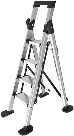 XSJZ Taburete, Aleación de Aluminio Ligera Plegable Portátil Multifunción Escalera de Un Solo Lado Adecuada para Escalera de Trabajo de Emplazamiento de Escaleras Mecánicas Ascendentes Interiores Esca: Amazon.es: Hogar