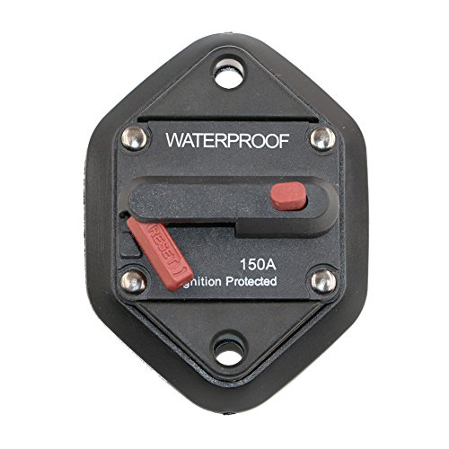 T Tocas Hi-Amp Waterproof 150A Circuit Breaker with Manual Reset, 12V- 48VDC, (Panel Mount-150A) by T Tocas