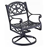 Home Styles 5554-53 Biscayne Swivel Outdoor Arm Chair, Black Finish