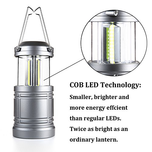 AuKvi 2Pcs Tactical Lantern Collapsible Military Tough Tac Light Lantern with COB LEDs & Magnetic Base Ultra Bright Camping Lantern