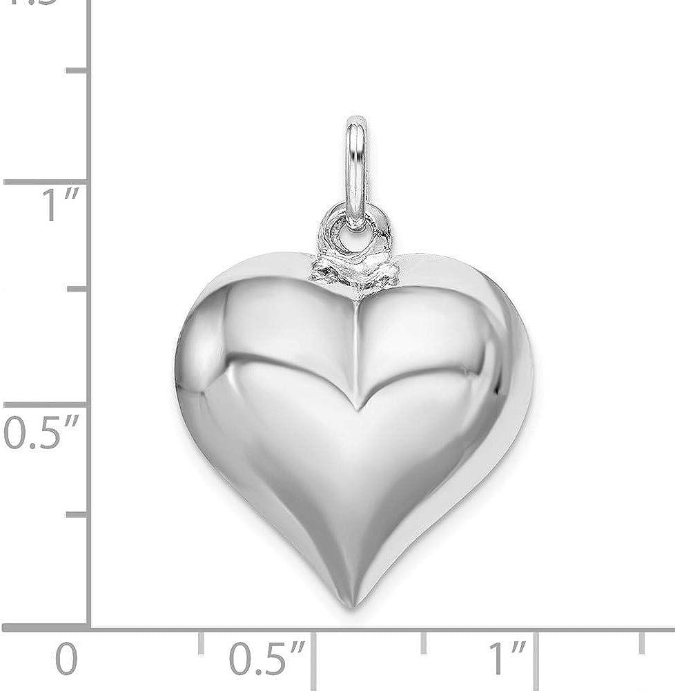 Sterling Heart Charm 925 Silver Heart Hollow Charm -JH2 Heart Charm for Necklace Bracelet Earring 5 Sterling Silver Tiny Love Heart Charm
