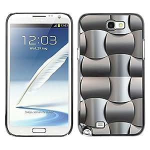 For Samsung Galaxy Note2 N7100 N7102 N7108 - Black Oil Plastic Weave Pattern /Modelo de la piel protectora de la cubierta del caso/ - Super Marley Shop -