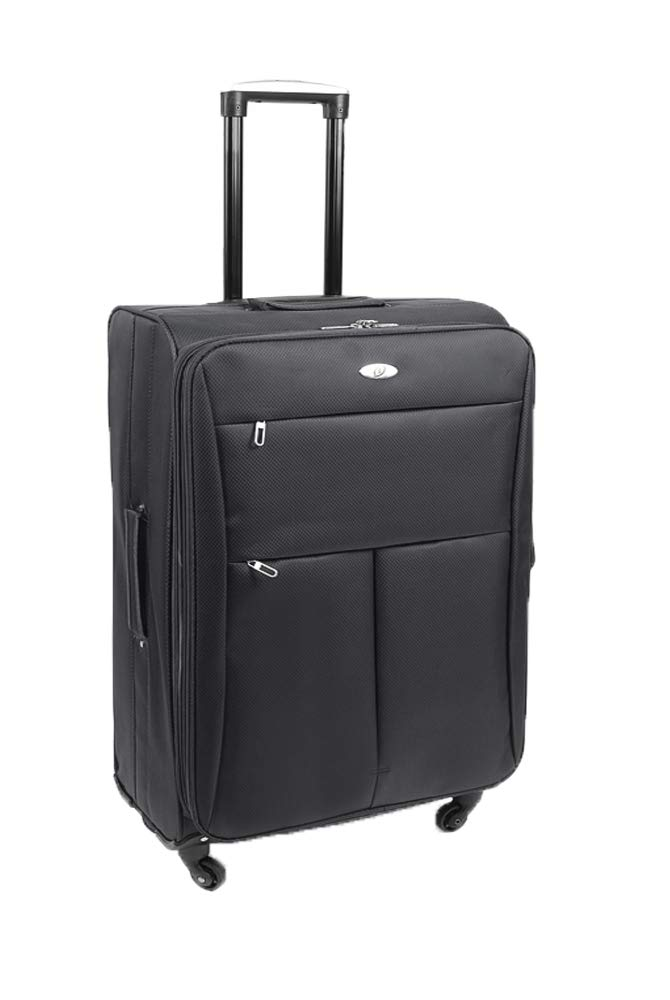 Super lé ger 4 roues Spinner bagages Valise de voyage Trolley Cases Noir Galaxy Black 20' Cabin