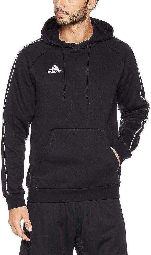 adidas Herren Core18 Hoody Sweatshirt Black/White