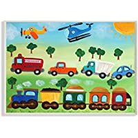 The Kids Room by Stupell Planes, Trains, and Automobiles...