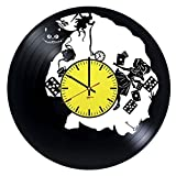 Alice in Wonderland Handmade Vinyl Record Wall Clock - Get unique living room or nursery wall decor - Gift ideas for children – Fantasy Movie Characters Unique Art Design