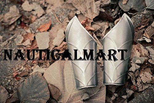 NauticalMart Renaissance Armor Steel Armor Bracers - Pair by NAUTICALMART