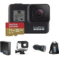 Kit Especial GoPro Câmera Hero 7 Black com Cartão 32GB Extreme, Bateria Extra, Caixa de Proteção, Carregador Veicular e…