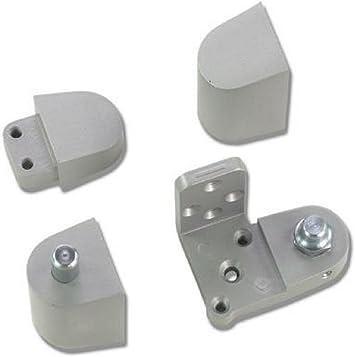 US Aluminum Style Storefront Door Pivot Hinge Set in Duronotic Finish Right Hand Choose Handing