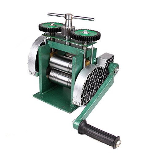 3'' Manual Combination Rolling Mill Machine Jewelry Press Tabletting Tool Jewelry DIY Tool Make Sheet Wire Flat 80mm by PENSON & CO.