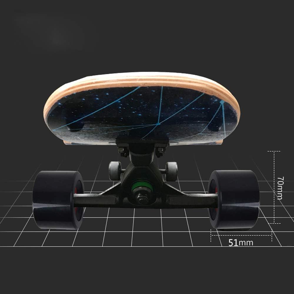 8 Capas Flexible de Arce por Adulto Principiante WRISCG Longboard Tabla Completa 25x107cm Skateboard Drop-Through Freeride Skate Cruiser Boards Rodamientos ABEC Alta velicidad