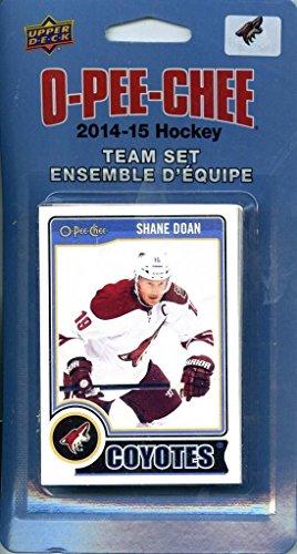 Phoenix Coyotes 2014 2015 O Pee Chee NHL Hockey Brand New Factory Sealed 16 Card Licensed Team Set Made By Upper Deck Including Radim Vrbata, Shane Doan, Keith Yandle Plus
