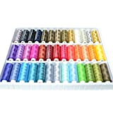Best Sewing Thread Kit Online Assortment Of Heavy Duty High Quality Colors Spools Set With An Organizer Storage Holder Box Excellent Polyester Threads for Hand Embroidery Or Machine Sewing Grate Gift For Mother Father Kids Adult or Beginner by Sewing Made EZ
