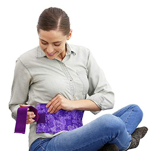 Menstrual Cramp Pain - Nature Creation- Menstrual Cramps Reliever - Microwavable, Reusable, and Scented Abdominal/Back Pain Relief (Purple Flowers)