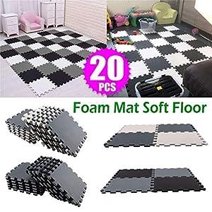 20PCS Playmat Foam Play Tiles Interlocking Play mat Baby for Kids Floor mats for Children Foam playmats Jigsaw mat Baby…
